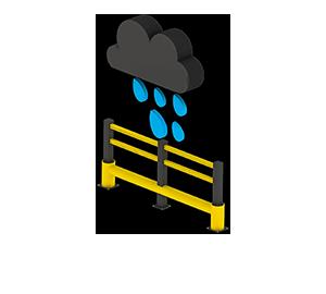 Les avantages des barrières amortissantes - Pas de corrosion - Barriere-amortissante.fr